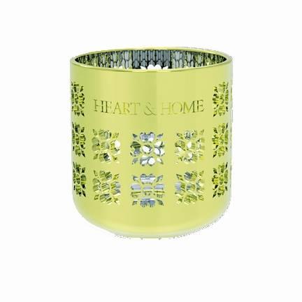 Heart and Home Teelichthalter Metallic Grün
