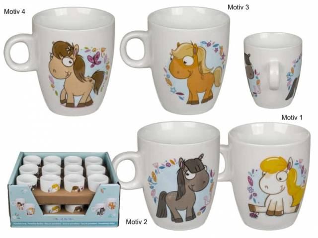 Porzellan Tasse Pony / Pferdetasse