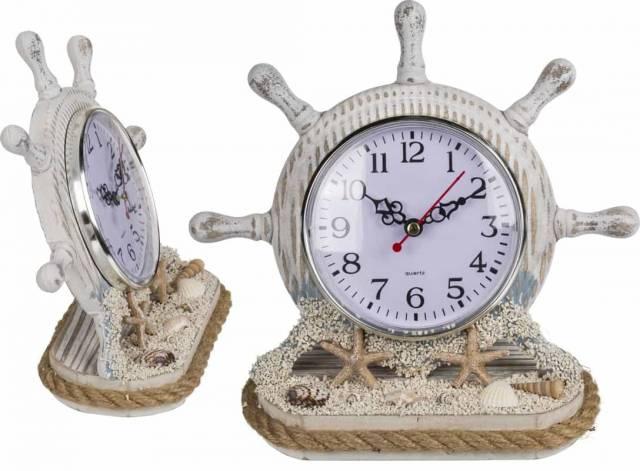 Holz Steuerrad mit Uhr