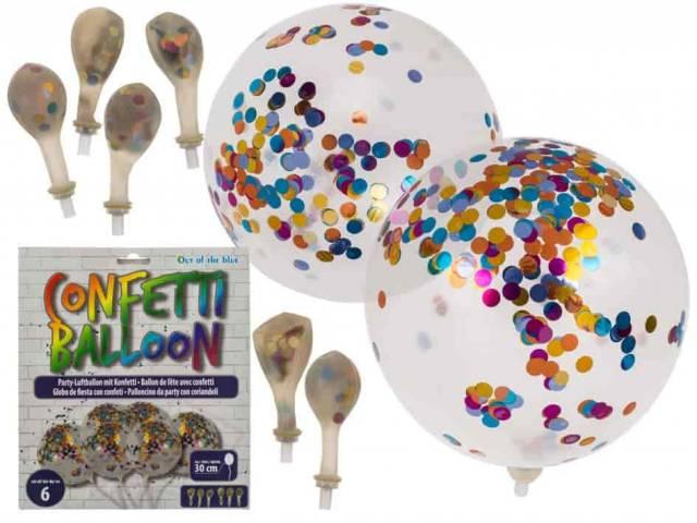 Party Luftballon mit Konfetti