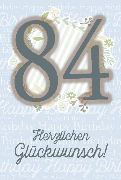 Glückwunschkarte zum 84. Geburstag
