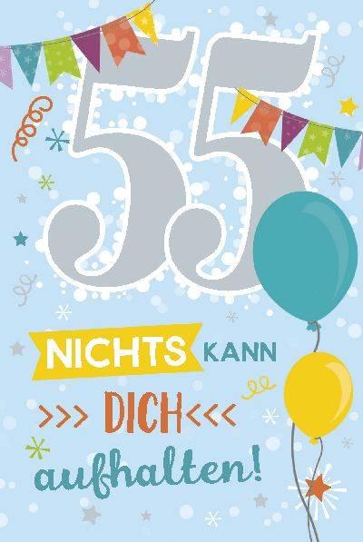 Depesche Geburtstagskarte 55.Geburtstag mit Musik