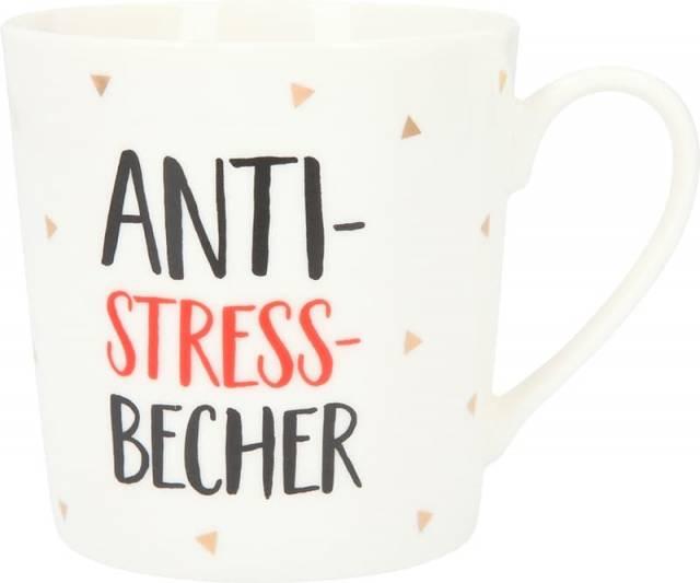 Depesche Porzellan Becher Anti Stress Becher