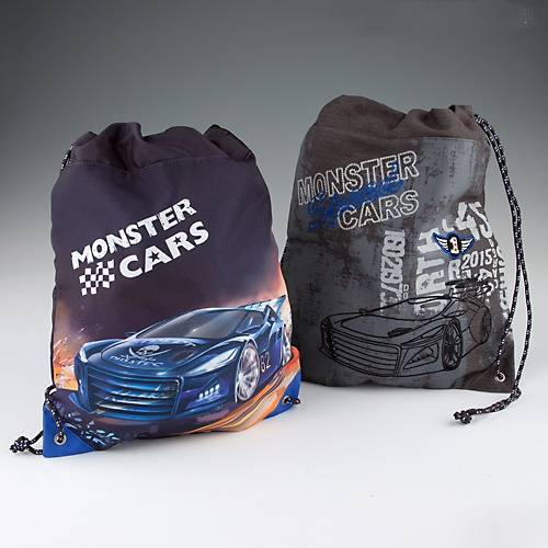 Depesche Monstar Cars Matchbag / Turnbeutel