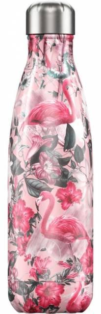 Chilly´s Edelstahlflasche Flamingo