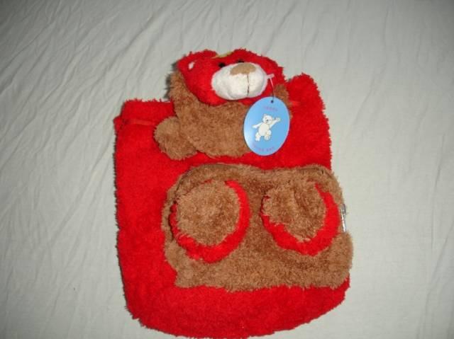 Kinderrucksack Rot Teddy
