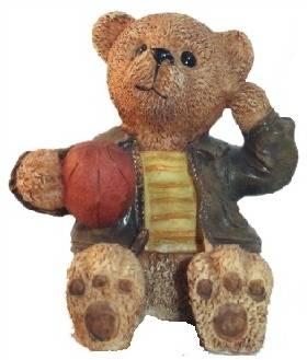 Teddy Figur mit Ball