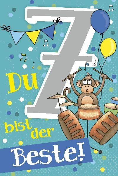 Depesche Geburtstagskarte 7.Geburtstag mit Musik | Geschenkewunderland