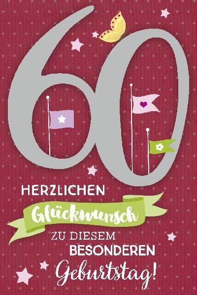 Glückwunschkarte zum 60. Geburstag