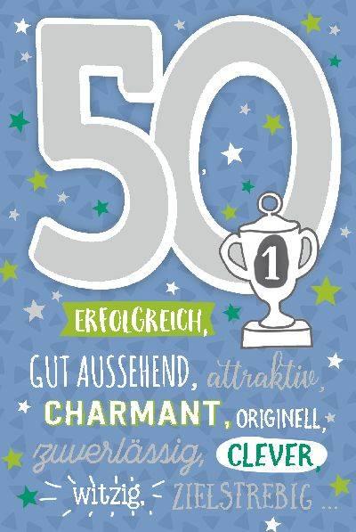 Depesche geburtstagskarte 50 geburtstag mit musik blau geschenkewunderland - Ideen 90 geburtstag ...
