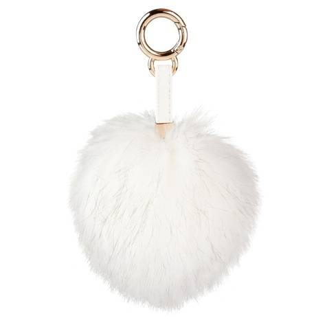 Depesche Trend Love Schlüsselanhänger Pompom Weiß