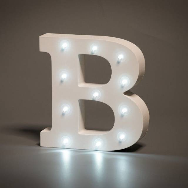 LED Buchstabe Lights Letter B