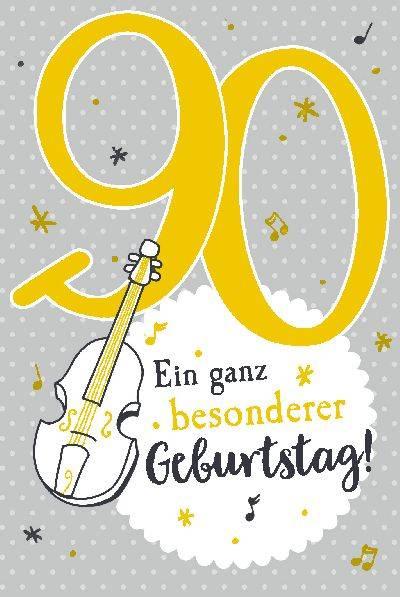 Glückwunschkarte zum 90. Geburstag