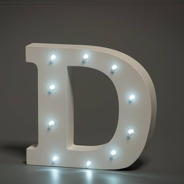 LED Buchstabe Lights Letter D