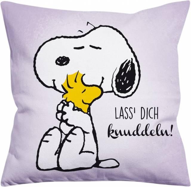 Snoopy Kissen Lass dich knuddeln