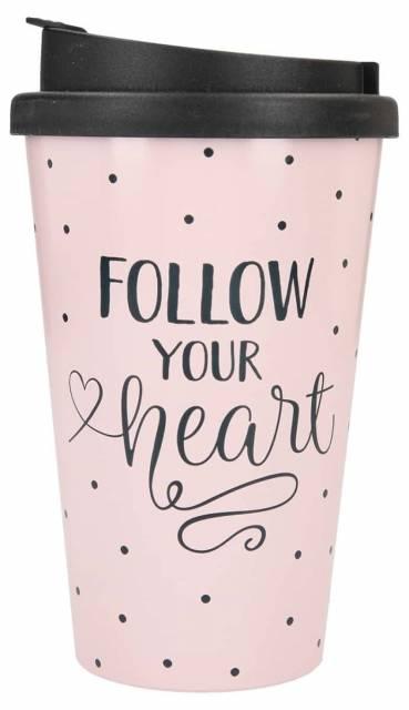 Trinkbecher Follow your Heart