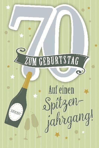 Depesche Geburtstagskarte 70geburtstag Mit Musik Grün