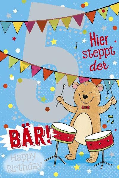 Depesche Geburtstagskarte 5geburtstag Mit Musik Geschenkewunderland