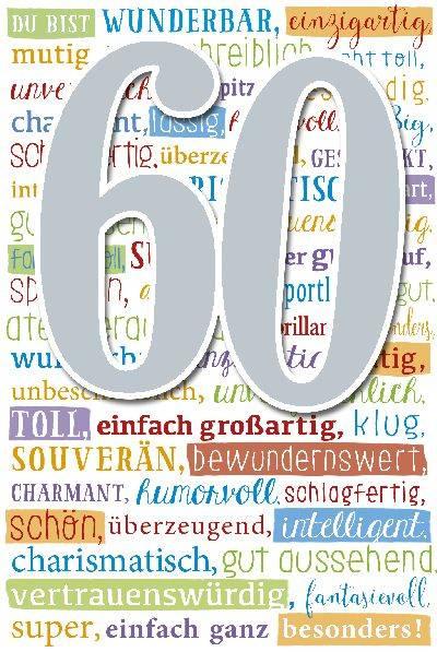 Depesche Geburtstagskarte 60 Geburtstag Mit Musik Weiss