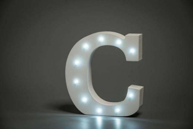 LED Buchstabe Lights Letter C