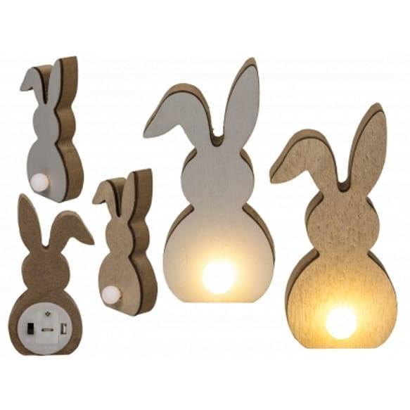Deko Hasen aus Holz