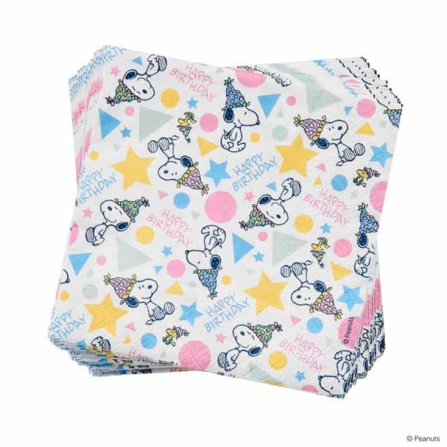 Snoopy Papierserviette Happy Birthday