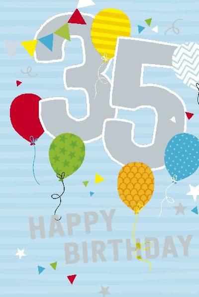 Glückwunschkarte zum 35. Geburstag