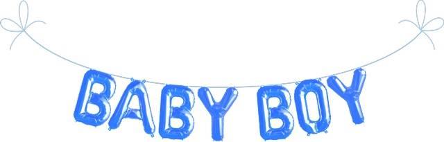 Folien Ballon Buchstaben Set BABY BOY