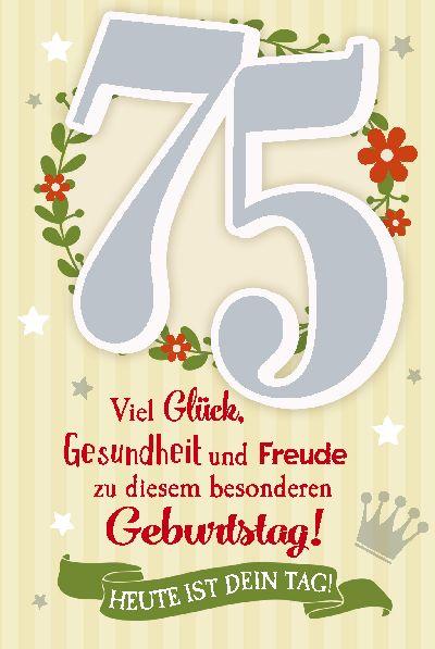 Geburtstagsgrüße Zum 75 Geburtstag