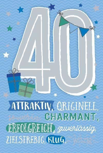 Geburtstagskarte 40 geburtstag kostenlos