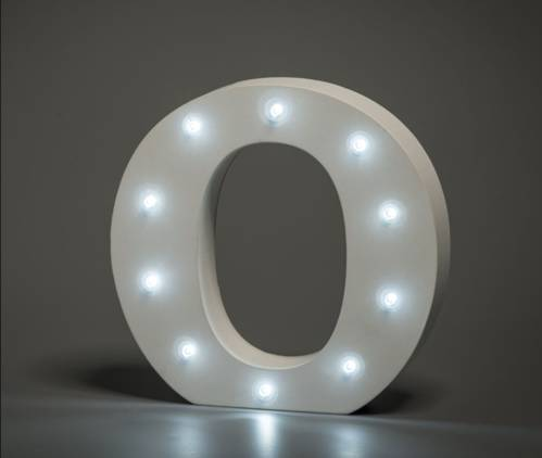 LED Buchstabe Lights Letter O
