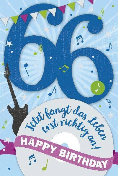 Depesche Geburtstagskarte 66geburtstag Mit Musik Geschenkewunderland
