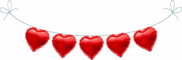 Folien Ballon Buchstaben Herzen
