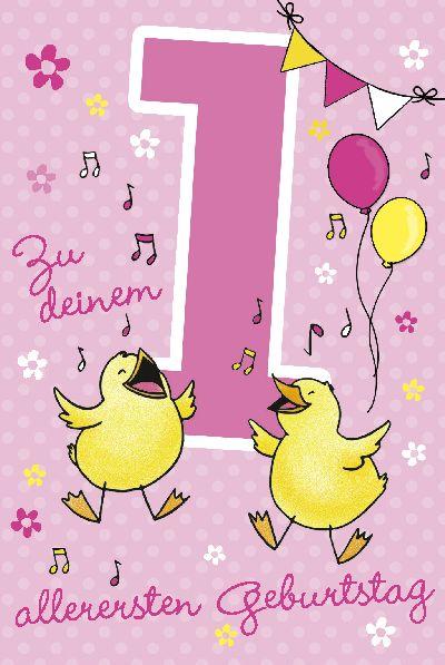 Depesche Geburtstagskarte 1.Geburtstag mit Musik