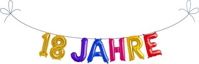 Folien Ballon Buchstaben Set 18 JAHRE