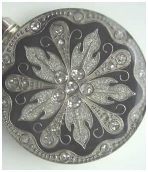 Handtaschenhalter Schwarz / Silber