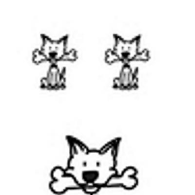 My Sticker Family Hund mit Knochen