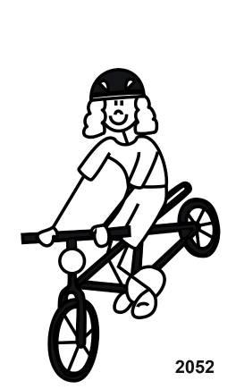 My Sticker Family Mama auf Fahrrad