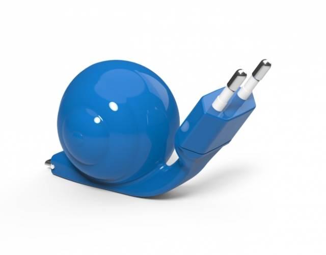 SNAIL Micro USB Ladekabel Schnecke Blau