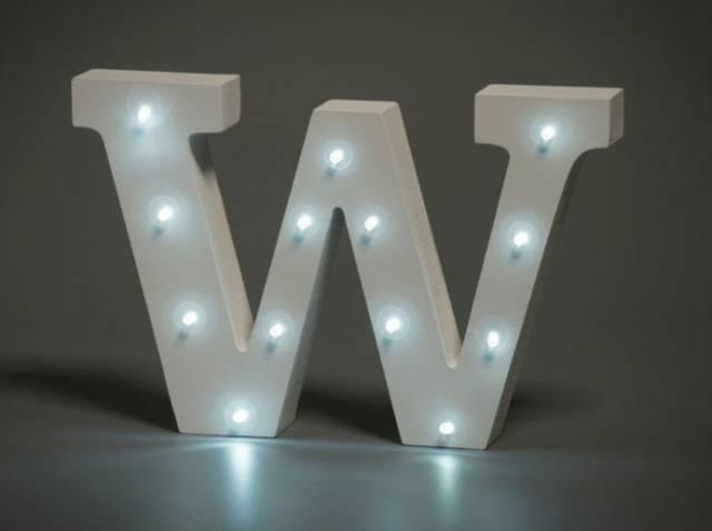 LED Buchstabe Lights Letter W