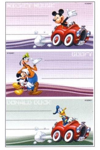 Buchetiketten Mickey Mouse