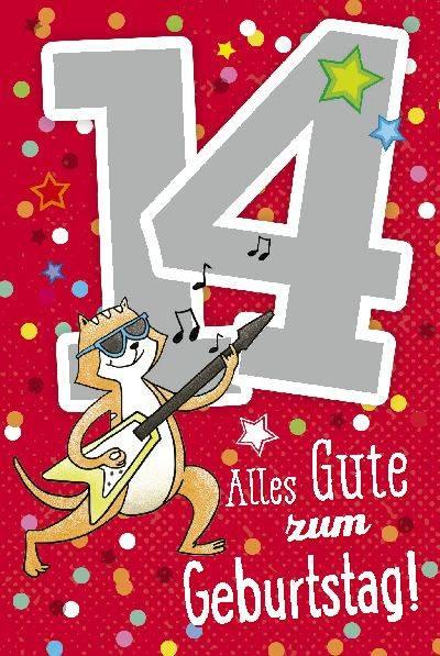 Geburtstagsgruss Zum 14 Geburtstag Fur Meine Tochter Miriam Gina