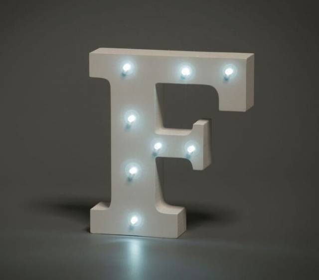 LED Buchstabe Lights Letter F