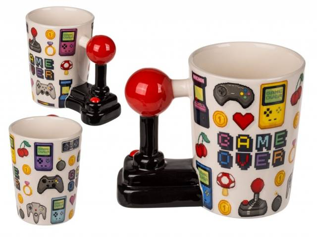 Tasse Game Cover mit Joystick Griff