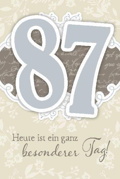 Glückwunschkarte zum 87. Geburstag