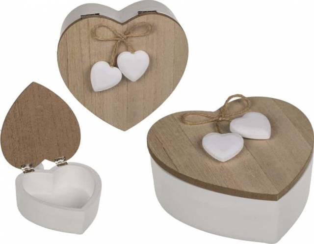 Holz Dose Herz