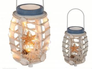 Maritim Holzlaterne mit LED