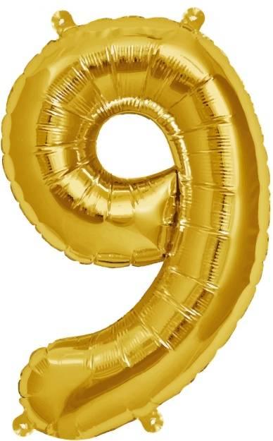 Folien Ballon Zahl 9