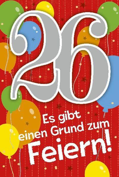 Geburtstag 26 Jahre
