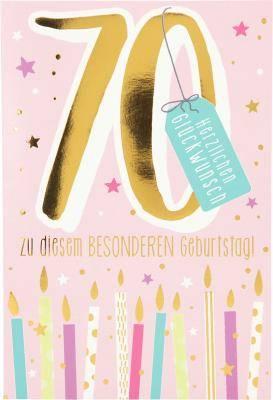 Geburtstagskarte 70.Geburtstag mit Musik